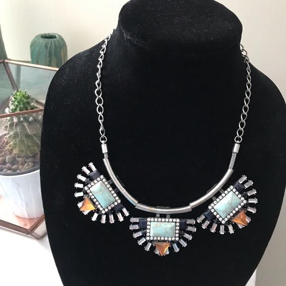 Francesca's Collections Jewelry - [Francesca's] Aztec Design Statement Necklace